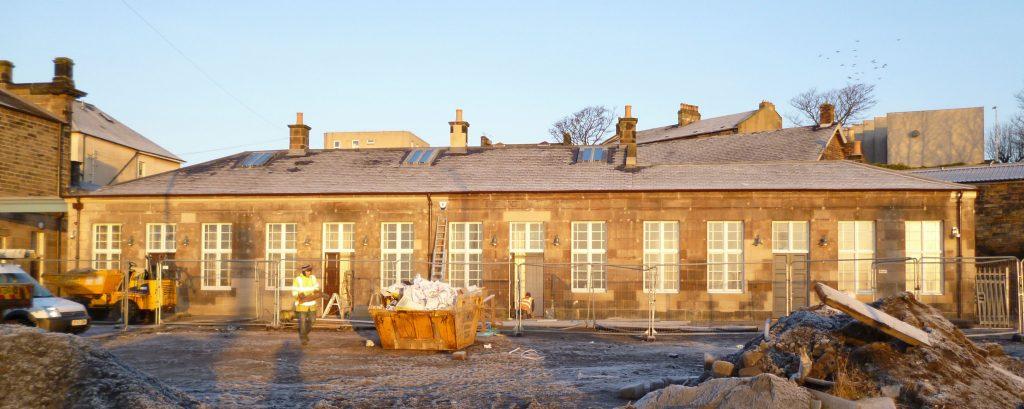 Platform Building During Restoration, Burntisland