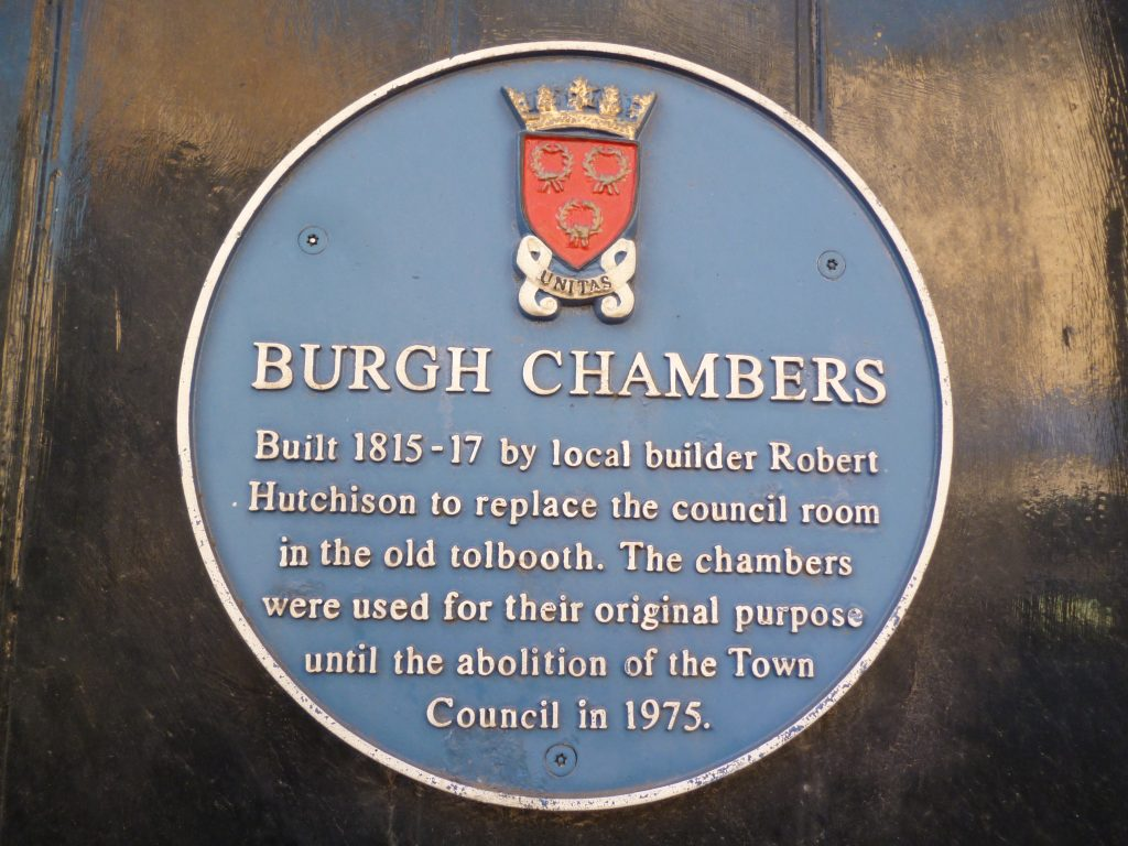 Burgh Chambers Plaque, Cupar