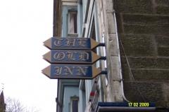 Dunfermline Kirkgate Old Inn Before sign