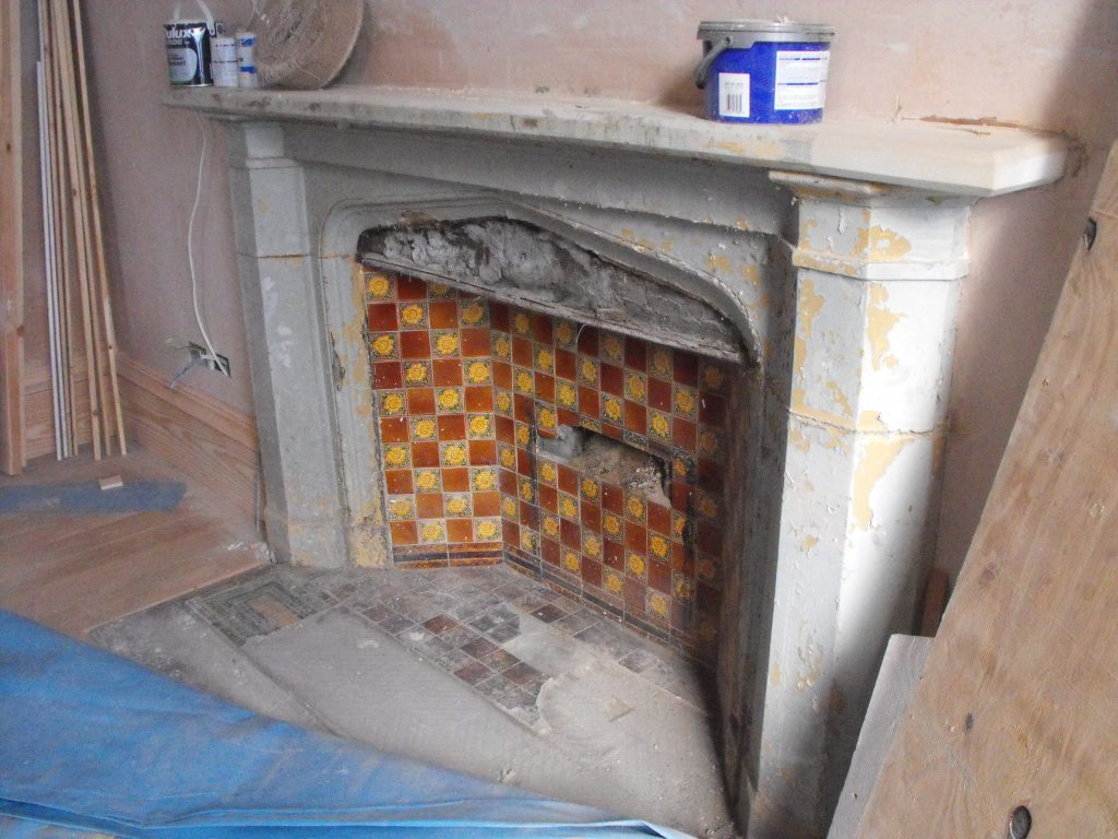 Kinghorn Town Hall Fireplace Before Restoration