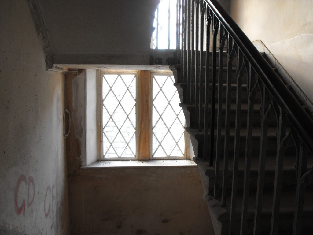 Kinghorn Town Hall Stairwell During Restoration