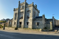 Kinghorn Town Hall - from front with clear blue skies
