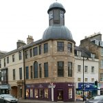 Cupar Burgh Chambers after restoration - pink paint removed and beautiful stonework restored
