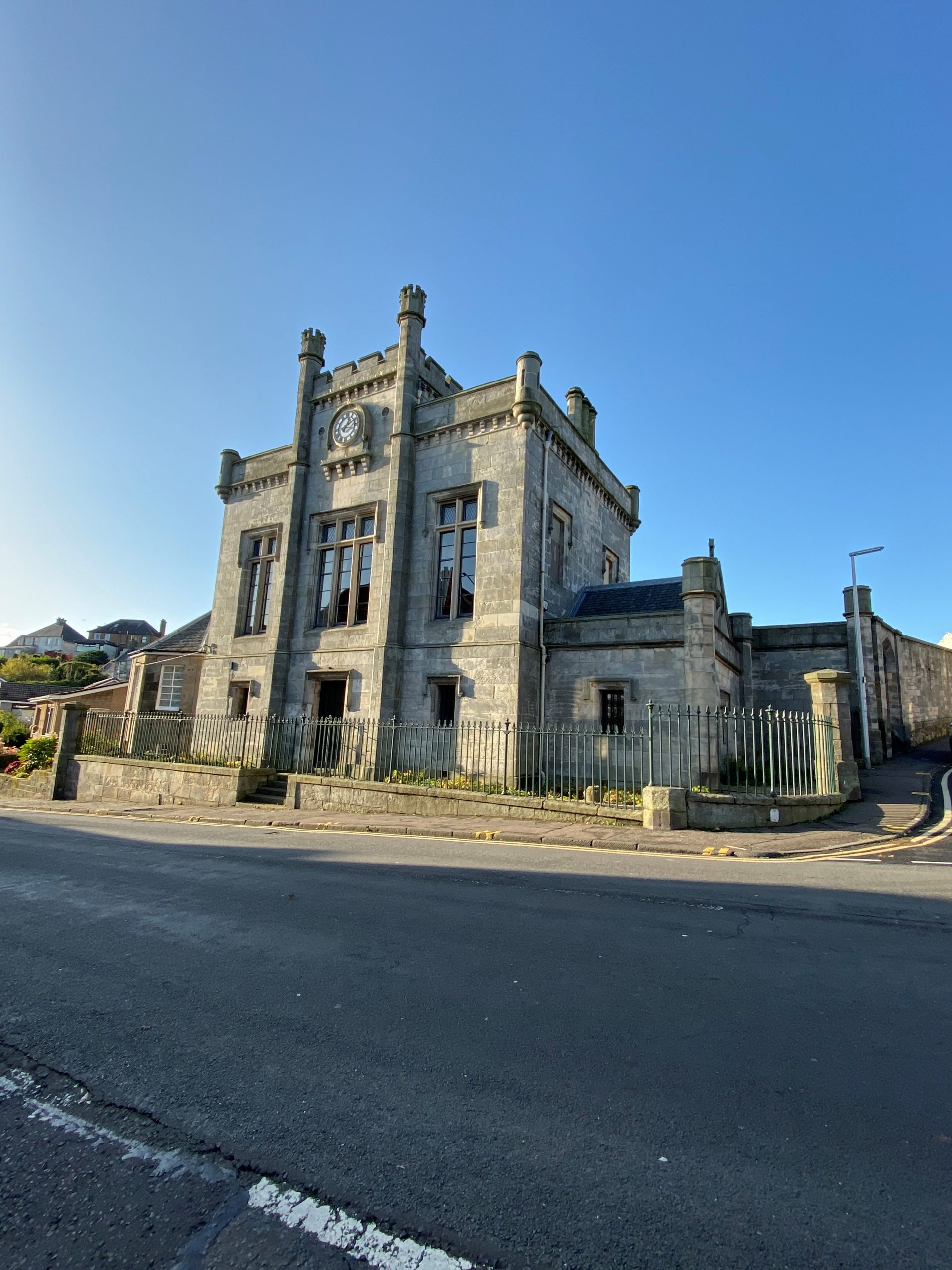 Exterior of Kinghorn Town Hall on a Sunny Day